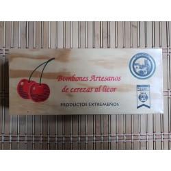 bombones de cereza madera